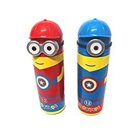 Manvi Sketch Pens Set in Minions Shaped Box for Kid's Birthday -Pack of 6