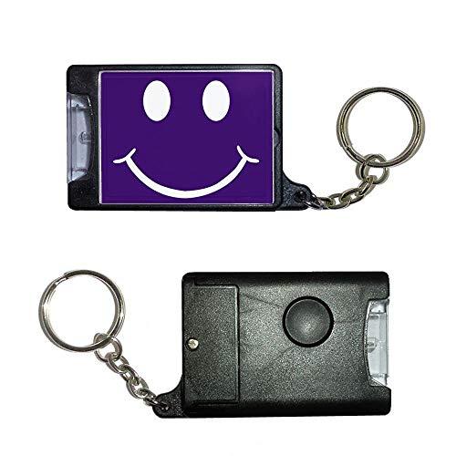 BadgeBeast.co.uk Purple Smiley - Schwarze Taschenlampe