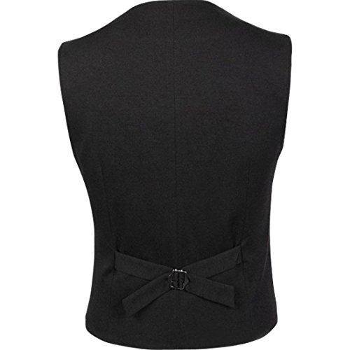 Bregeo Men's Tuxedo Blazer (GOWN COLLAR-36_Black_36)