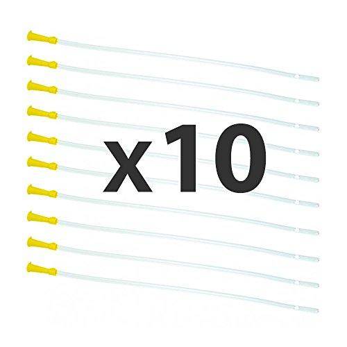 Dr. Wunder Darmrohr-Set 10 Stück: runde Spitze & abgerundete Kanten ||Länge 40cm, Durchmesser 6.7mmm || flexible Einlaufhilfe || universelle Größe für jedes gängige Irrigator-Set bzw. Klyso-Pumpe