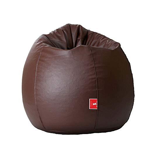 Comfy Bean Bags XXXL Bean Bag Filled with Beans Filler (Brown)