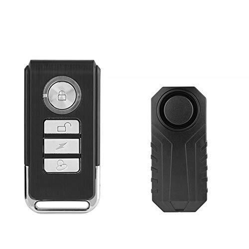 Delaman Fahrrad Alarmschloss Wireless Anti-Diebstahl Fernbedienung Alarm, Fahrrad Alarm Sicherheitsschloss, Motorrad Fahrzeug Alarmanlage Sirene