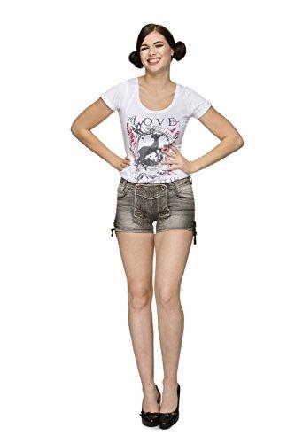 Stockerpoint - Damen Trachten Jeans Short, Gigi, Größe:36, (Tracht Indische)