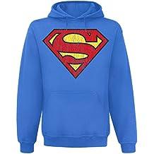 Superman - Sudadera Azul con Logo - Distressed Look - S