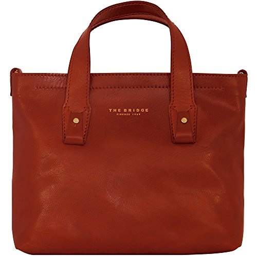 The Bridge Sfoderata Luxe Donna Sac à main - Fourre-tout cuir 29 cm rosso ribes
