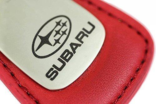 Subaru Leather Key Chain Red Tear Drop Key Ring Fob Lanyard WRX Sti by DanteGTS (Fob-lanyard)