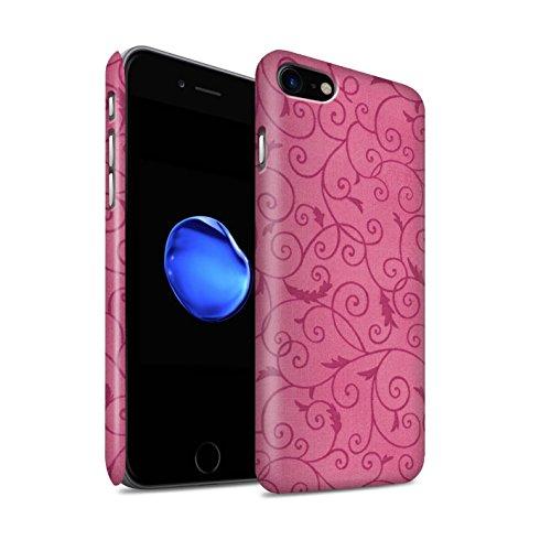 STUFF4 Matte Snap-On Hülle / Case für Apple iPhone 8 / Türkis Muster / Vine Blumenmuster Kollektion Rosa