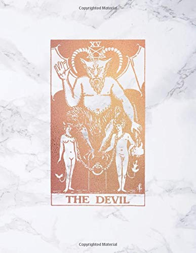 The Devil: Bullet Journal    8.5 x 11 A4 Notebook   Soft White Marble and Brilliant Gold Design - Dot Grid Notebook (Marble and Gold - Dotted Grid Notebook, Band 1)