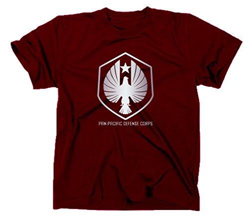 Pan Pacific Defense Corps Logo T-Shirt, pacific rim, XXL, maroon Maroon Rim