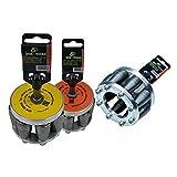 Rohraufweiter, 3er-SET SDS-Plus, Muffenzieher, 3 Stück verschiedene Aufweiter für Rohre (DN 80 + DN 87 + DN 100)