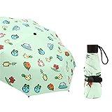 JUNDY Ultra Leicht und Klein Anti-UV Mini Reise Regenschirm Automatische ultraleichte 50% UV-Regenschirm Farbe16 97cm