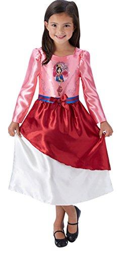 erdbeerloft - Mädchen Kostüm Karneval Prinzessin Fairytale Mulan, Mehrfarbig, Größe 122-128, 7-8 Jahre