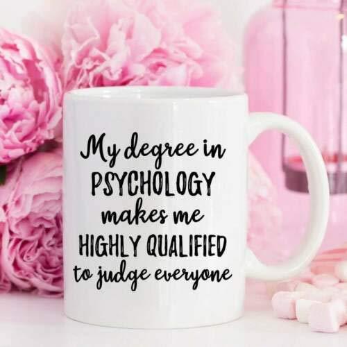 White Coffee Mug 11/15oz Funny Mugs Coffee Mugs Psychology Gift Psychology Mug Psychologist Mug Psychologist Gift Funny 15oz