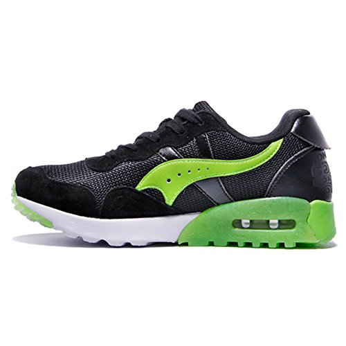 ONEMIX Air Baskets Chaussures Jogging Course Gym Fitness Sport Lacet Sneakers running Sport Compétition Trail Homme Femme ete Baskets Green Black