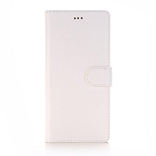 5.8 Zoll Galaxy S9 Hülle, TechCode Elegantes Retro Leder mit Identifikation Kreditkarte Schlitz Halter Schlag Abdeckungs Standplatz magnetischer Verschluss Kasten für Samsung Galaxy S9 (Weiß)