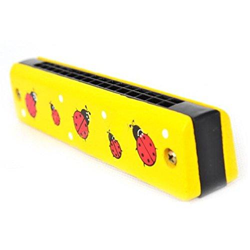 hibote hölzerne gemalte Harmonika-Kinder scherzen Musikinstrument-pädagogische Musik-Spielzeug (gelegentliche Farbe)