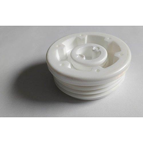 'Multitanks–Stöpsel männlich weiß für Zapfanlagen/Kanister mit Gewinde S56x 4und Ablaufgarnitur 3/4BSP