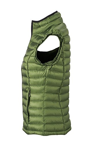 James & Nicholson Damen Jacke Daunenweste Ladies Quilted Down Vest Jungle Green/Black