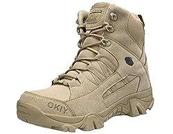 SINOES Unisex Black Army Stiefel Geniune Wüstenstiefel Aus Leder Klassischen Art-Schuh Für Damen Herren Wandern Combat Boots Schnürschuh