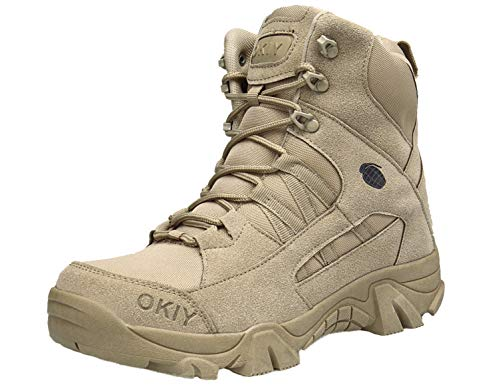 SINOES Männer, Wüstenstiefel, Special Forces Stiefel, Polizeistiefel, Outdoor, Camouflage Wanderschuhe, Warme, Atmungsaktive, Sturmstiefel Cordura Uniform Boot