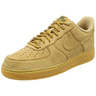 NIKE Herren Air Force 1 '07 Wb Fitnessschuhe, Mehrfarbig Flax/Gum Light Brown/Outdoor Green 200, 42.5 EU