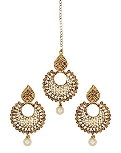 Zaveri Pearls Jewellery Set for Women (Golden) (ZPFK6088)