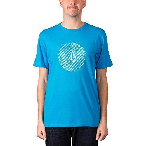 Volcom Herren Halfer BSC S/S T-Shirt, Cyan Blue, M - Volcom-logos