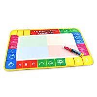 Fulltime(TM) New Baby Water Drawing Painting Writing Mat Board Magic Pen Doodle Toy Gift With Pen 29X19cm