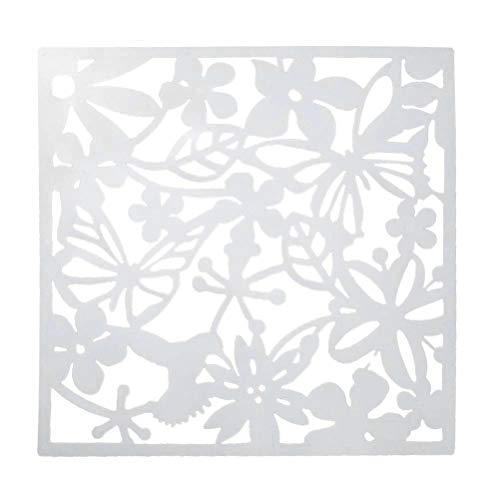 VORCOOL DIY hängender Raumteiler Privatleben Bildschirm Partition dekorativer Separator für Wohnzimmer Hotel (weiß) -