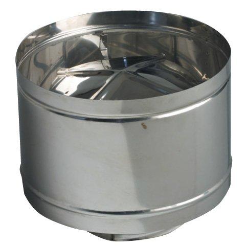 Chapeau cheminée Fumaiolo à fût coupe-vent mm. 140 cm. 14 acier inoxydable 304 aluminié
