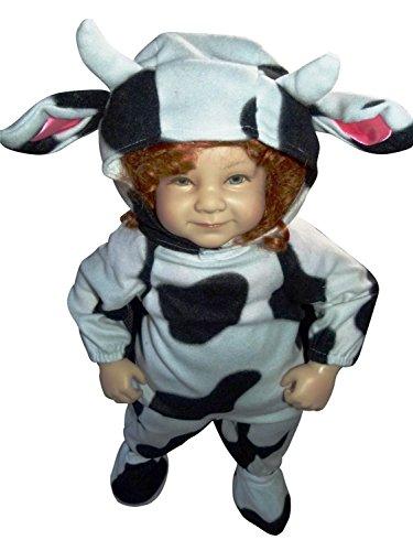 Kostüm Kuh Kuschelige - Kuh-Kostüm, F79 Gr. 92-98, für Klein-Kinder, Babies, Kuh-Kostüme Kühe Kinder-Kostüme Fasching Karneval, Kleinkinder-Karnevalskostüme, Faschingskostüme, Geburtstags-Geschenk