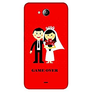 Bhishoom Designer Printed Back Case Cover for Micromax Canvas Play Q355 (Humor :: Married :: Couple :: Typography)