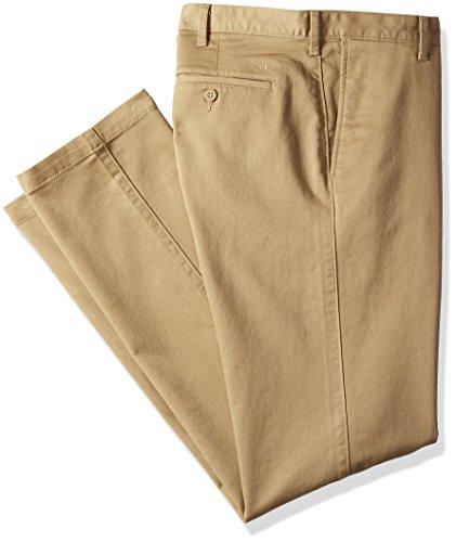 Dockers Men's Big and Tall Soft Stretch Khaki Pant, New British Khaki, 40W x 36L (Khaki And Tall Big)