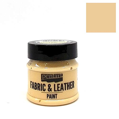 Textil- und Lederfarbe 50ml - Eierschale. Fabric and Leather Paint - Eierschale Leder