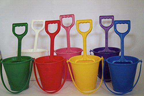 Eimer und Schaufel Spielzeug, 2 Sets / 12 cm, 7 Farben