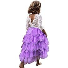KOLY Abito in Pizzo per Bambina Vestiti di Vestito dal Tutu di Filato  Netto a9d489c7d22