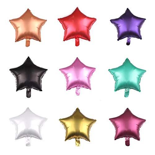 thematys Schöne Sterne Party Ballons - Luftballons 9 Stück - für Partys und Geburtstage