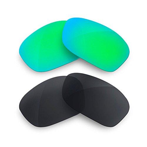 sunglasses restorer Custom Wechselgläser für Oil Drum (Polarized Combo Sapphire Green + Black Iridium Gläser)