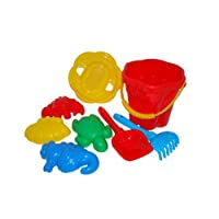 Polesie 35578 No.307 Sieve No.3, Size, Shovel, Rake No.5, Sand Forms (Crab Turtle with Sea Horse with Seashell No.2) -Sets: Flower Bucket, Medium No. 3, Multi Colour