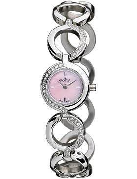 Grovana Damen-Armbanduhr 4538.7136 Analog Edelstahl beschichtet Silber 4538.7136