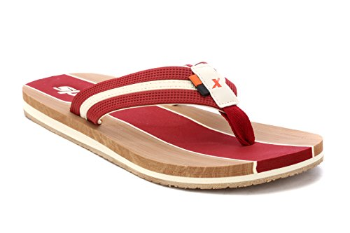 Sparx Men's Maroon Canvas Hawaii House Slippers (SF2067G)-6 UK  available at amazon for Rs.404
