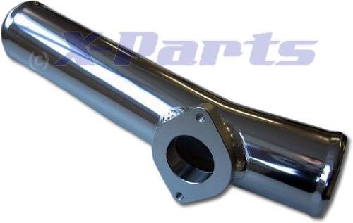 Alu Rohr 60mm gerade leicht gebogen mit Blow Off Flansch 30cm lang -