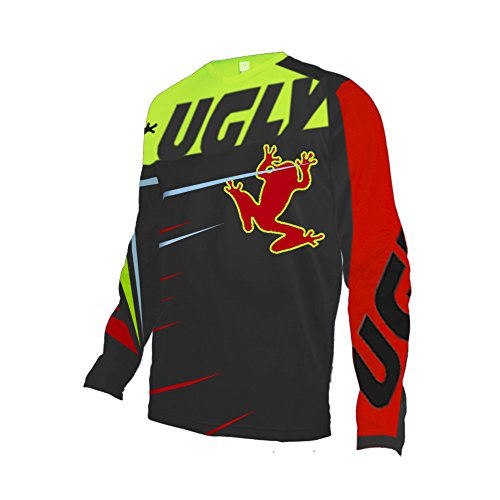 Black Thermal Langarm-shirt (Uglyfrog Motocross Thermal Vlies 2018 Langarm Ärmel Jersey Frühlingsart Motocross Mountain Bike Downhill Shirt Herren Sportbekleidung Kleidung Winter)
