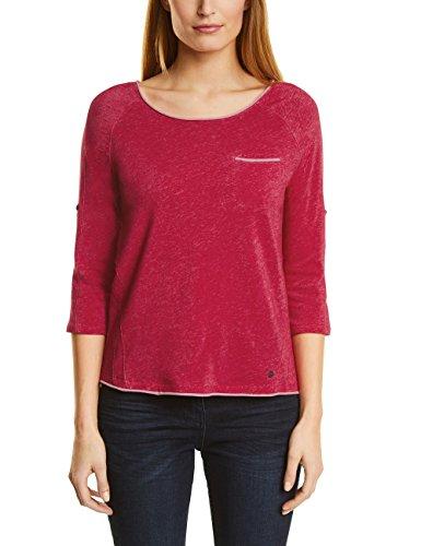 Cecil Damen Langarmshirt 311778 Mailin, Rot (Salsa Red 21198), X-Large (Salsa-t-shirt)