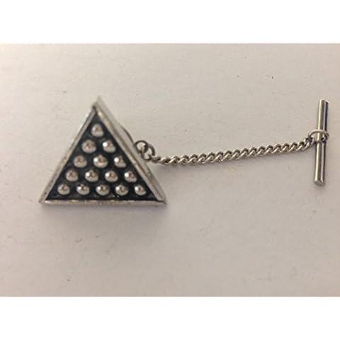 S5da biliardo triangolo Tack Fermacravatta con catena