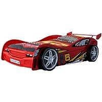 VIPACK SCNR200R Autobett Night Racer, circa 217 x 65 x 111 cm, Liegefläche 90 x 200 cm, lackiert aufgedruckte Rennwagen-Optik, rot