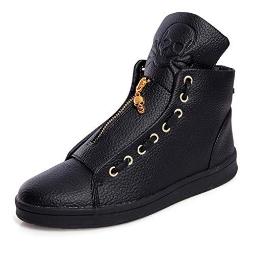 YAN Zapatos de Hombre Zapatos de Cubierta de otoño e Invierno de...