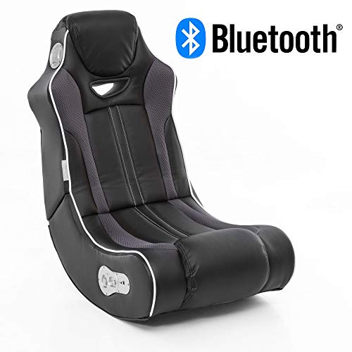 Wohnling® Soundchair Cheater in Schwarz mit Bluetooth | Musiksessel mit eingebauten Lautsprechern | Multimediasessel für Gamer | 2.1 Soundsystem - Subwoofer | Music Gaming Sessel Rocker Chair