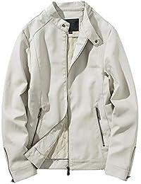 CLOOM Giacca Invernale Uomo Uomini Autunno Inverno Giacca di Pelle  Motociclista Zipper Outwear Cappotto Outwear Trench Giacche… 25062fb868c