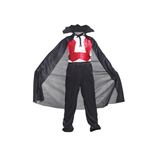loween Kostüm Kinder Vampir Anzug Cosplay Horrible Bat Kostüm Anzug - Größe L (Alten Spuk Halloween Kostüme)